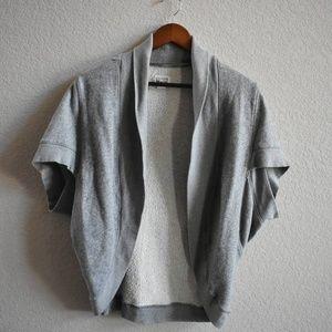 S   Converse   open sweatshirt vest